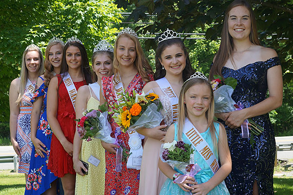 Little Miss Wantage 2019 with Miss Wantages 2013-2019
