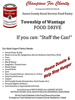 food drive - click for flier
