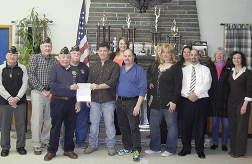 Recreation Commission Donation to American Legion