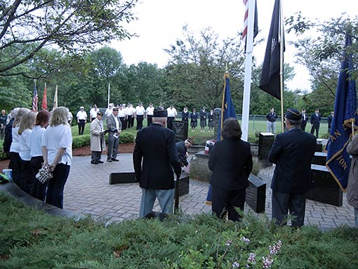 Memorial Day service at Woodbourne Park