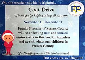 Wantage coat drive. Drop off donations at the municipal building.